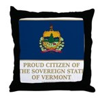Vermont Proud Citizen Throw Pillow