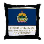 Vermont Proud Citizen Throw Pillow