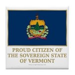 Vermont Proud Citizen Tile Coaster