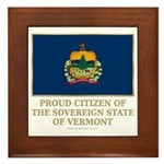 Vermont Proud Citizen Framed Tile