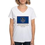 Utah Proud Citizen Women's V-Neck T-Shirt