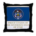 Utah Proud Citizen Throw Pillow
