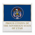 Utah Proud Citizen Tile Coaster