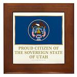 Utah Proud Citizen Framed Tile