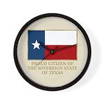 Texas Proud Citizen Wall Clock