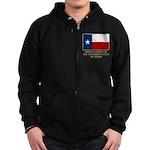 Texas Proud Citizen Zip Hoodie (dark)