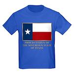 Texas Proud Citizen Kids Dark T-Shirt