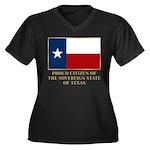 Texas Proud Citizen Women's Plus Size V-Neck Dark
