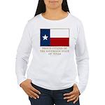 Texas Proud Citizen Women's Long Sleeve T-Shirt