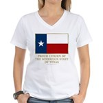 Texas Proud Citizen Women's V-Neck T-Shirt