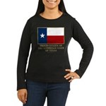 Texas Proud Citizen Women's Long Sleeve Dark T-Shi