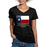 Texas Proud Citizen Women's V-Neck Dark T-Shirt