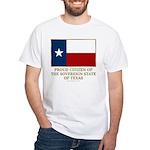 Texas Proud Citizen White T-Shirt