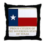 Texas Proud Citizen Throw Pillow