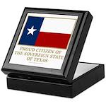 Texas Proud Citizen Keepsake Box