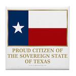 Texas Proud Citizen Tile Coaster