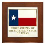 Texas Proud Citizen Framed Tile