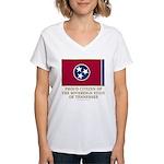 Tennessee Proud Citizen Women's V-Neck T-Shirt