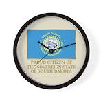 South Dakota Proud Citizen Wall Clock