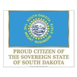 South Dakota Proud Citizen Small Poster
