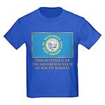 South Dakota Proud Citizen Kids Dark T-Shirt