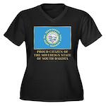 South Dakota Proud Citizen Women's Plus Size V-Nec