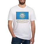 South Dakota Proud Citizen Fitted T-Shirt