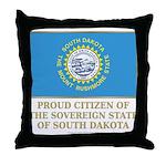 South Dakota Proud Citizen Throw Pillow