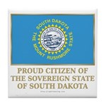 South Dakota Proud Citizen Tile Coaster