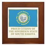 South Dakota Proud Citizen Framed Tile