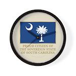 South Carolina Proud Citizen Wall Clock