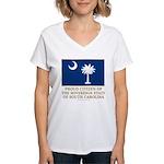 South Carolina Proud Citizen Women's V-Neck T-Shir
