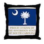 South Carolina Proud Citizen Throw Pillow