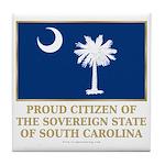 South Carolina Proud Citizen Tile Coaster