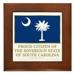 South Carolina Proud Citizen Framed Tile