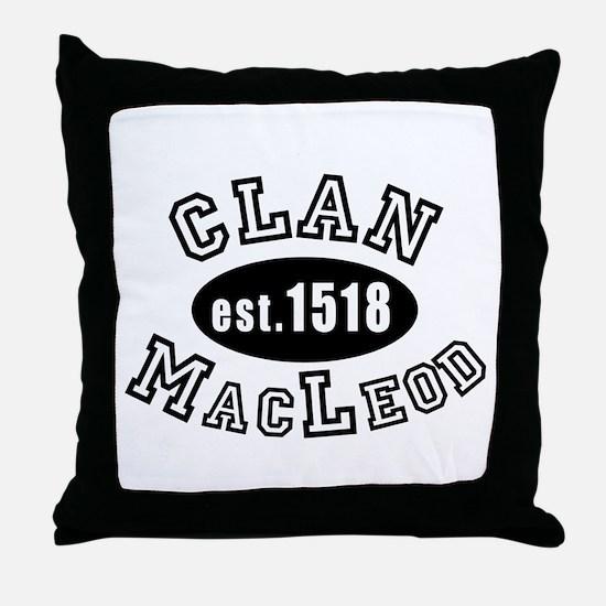 Clan MacLeod Throw Pillow