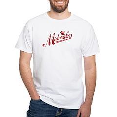 Midrealm Red/White Retro White T-Shirt
