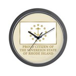 Proud Citizen of Rhode Island Wall Clock