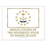 Proud Citizen of Rhode Island Small Poster