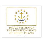 Proud Citizen of Rhode Island Small Poster