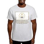 Proud Citizen of Rhode Island Light T-Shirt