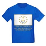 Proud Citizen of Rhode Island Kids Dark T-Shirt