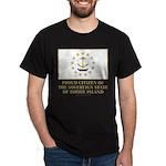 Proud Citizen of Rhode Island Dark T-Shirt