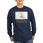 Proud Citizen of Rhode Island Long Sleeve Dark T-S