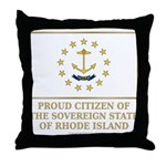 Proud Citizen of Rhode Island Throw Pillow