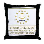 Proud Citizen of Rhode Island Throw Pillow