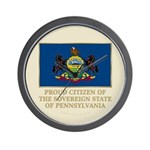 Pennsylvania Proud Citizen Wall Clock