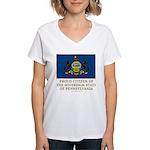 Pennsylvania Proud Citizen Women's V-Neck T-Shirt