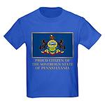 Pennsylvania Proud Citizen Kids Dark T-Shirt
