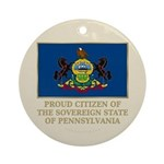 Pennsylvania Proud Citizen Ornament (Round)